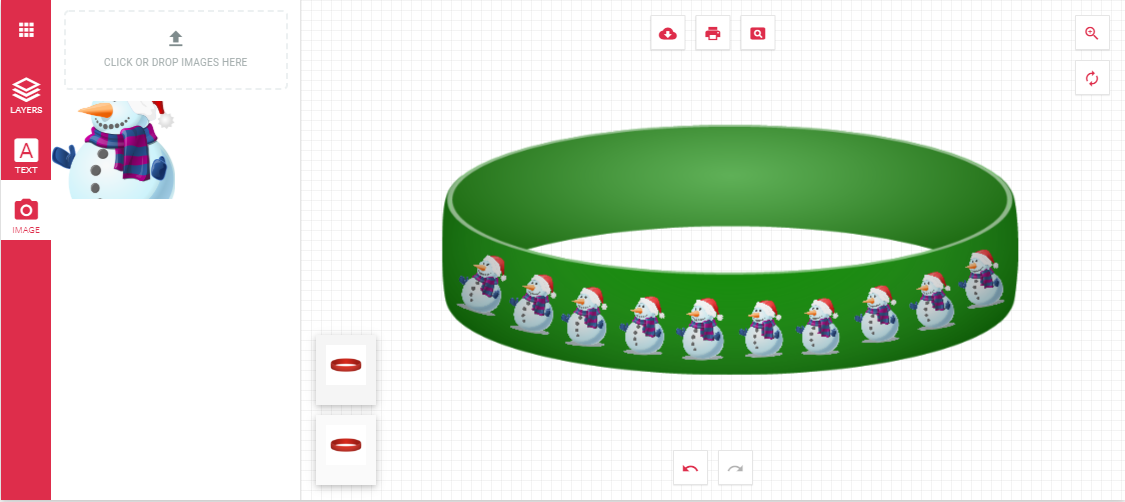 Design your own Christmas Silicone Wristband