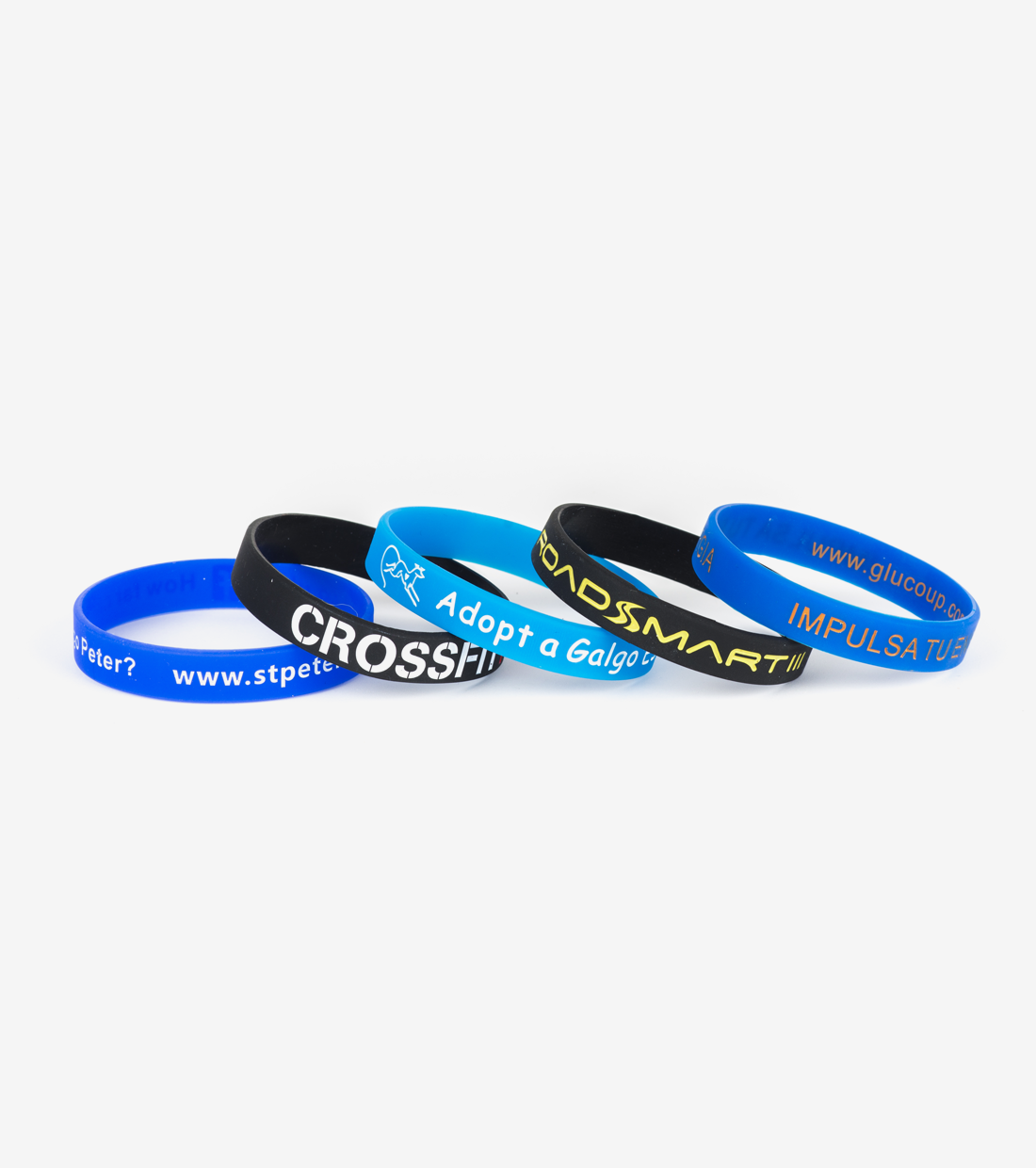 Silicone Wristbands Debossed and ink-filled