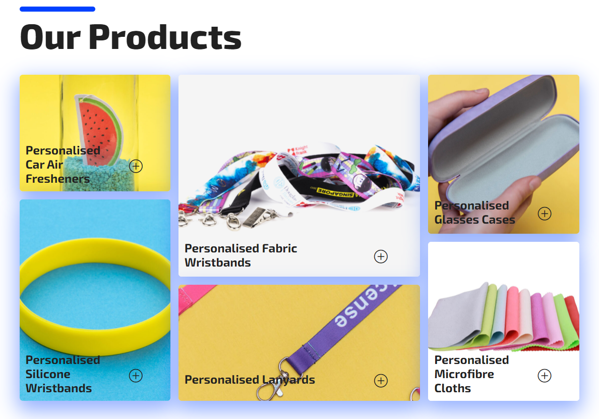 Web Products Direction Promotional Products